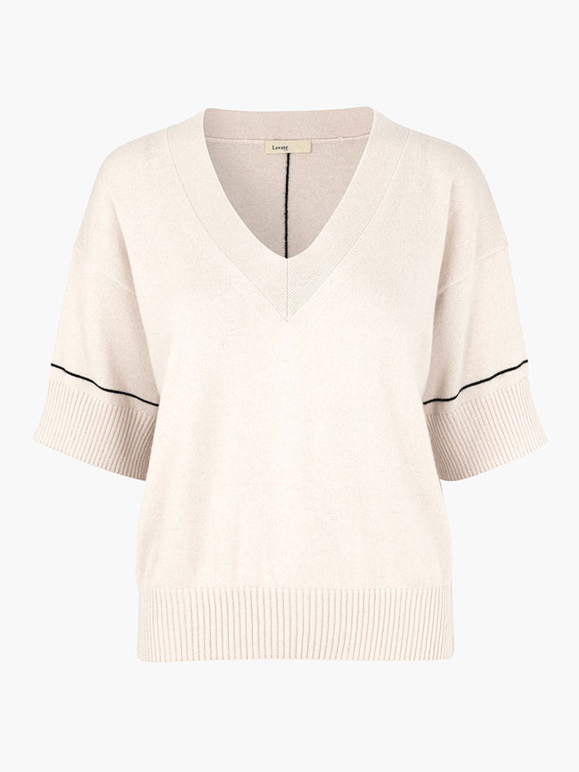 FUNDA V-NECK JUMPER - CHAMOMILE