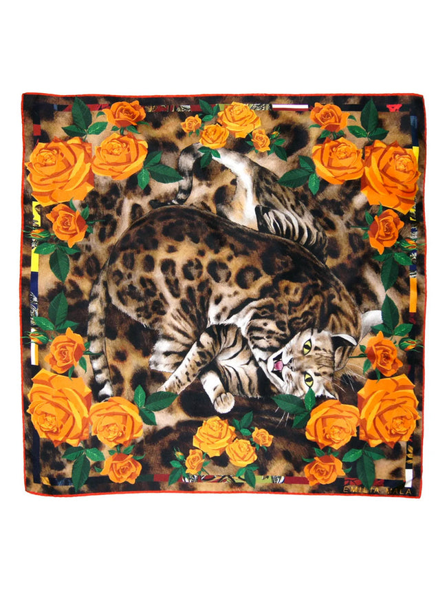 BENGAL ROSE SILK SCARF
