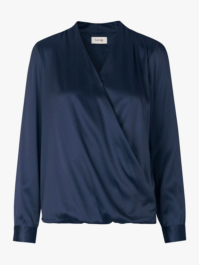 DAKOTA SILK BLOUSE - DRESS BLUES