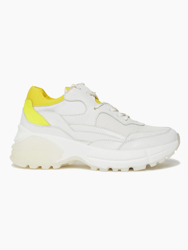 ELINA TRAINERS - WHITE/LEMON