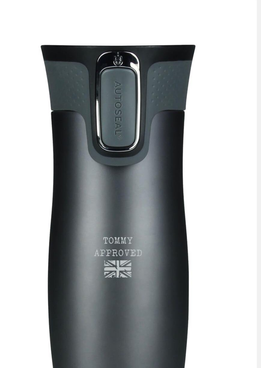 'Tommy Approved' Contigo® Westloop Thermos Mug (Gun metal)