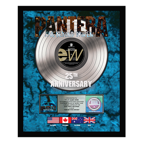 Personalized 25 Year Anniversary Far Beyond Driven Plaque