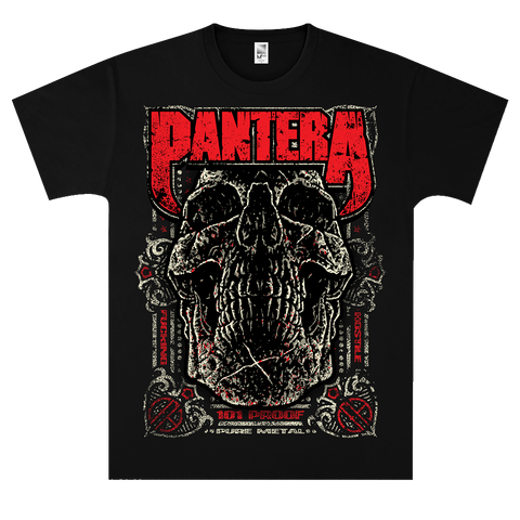 Pantera 101 Proof Skull T-Shirt