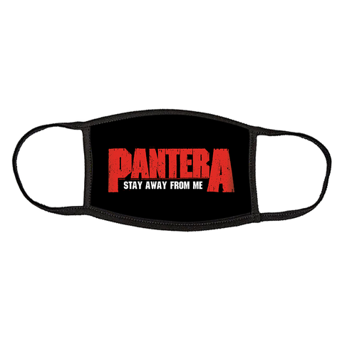 PANTERA LOGO STAY AWAY CLOTH FACE COVERING