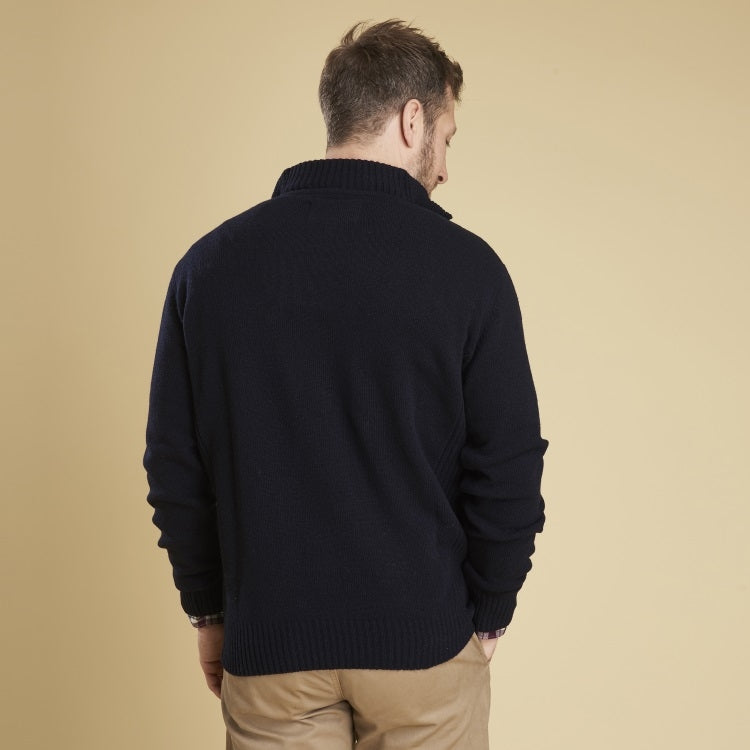 Barbour Nelson Essential Half Zip Sweater - Navy