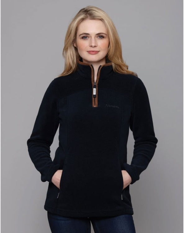 Schoffel Ladies Tilton 1/4 Zip Fleece - Navy