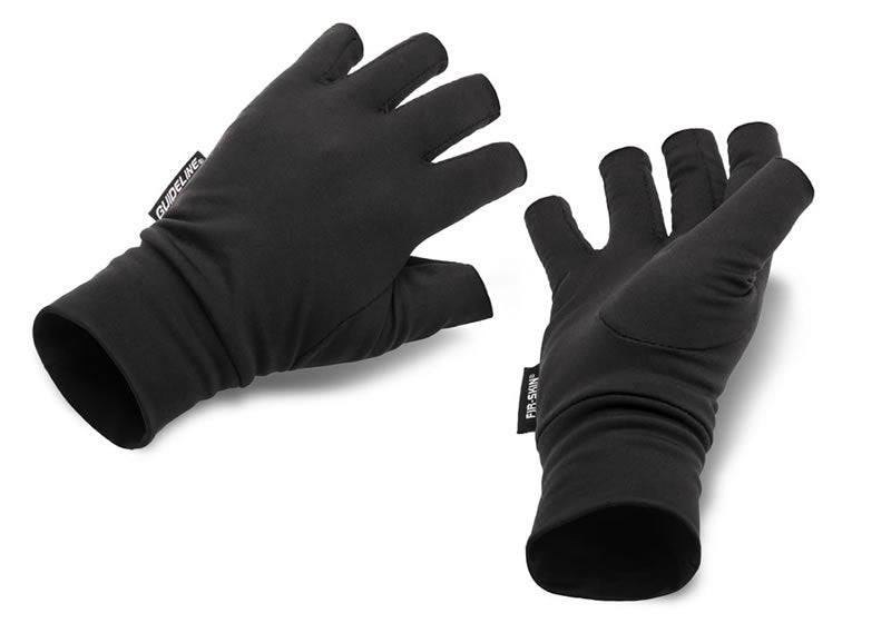 Guideline Fir-Skin Fingerless Gloves - Black