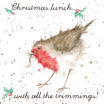 Wrendale Designs Christmas Lunch Christmas Card