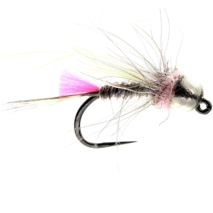 PINK CDC JIG TUNGSTEN BEAD FLIES