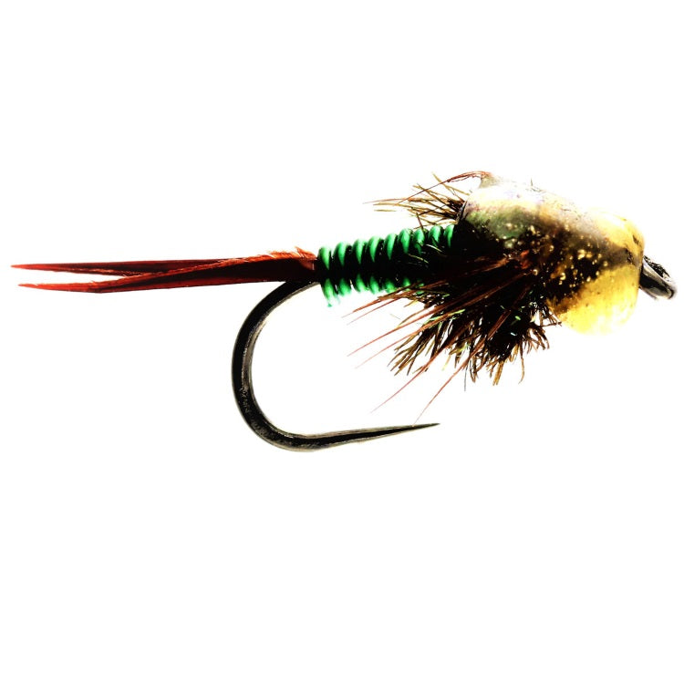 COPPER JOHN GREEN GOLD BEAD FLIES