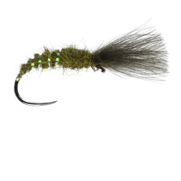 CDC Shuttlecock Olive Flies