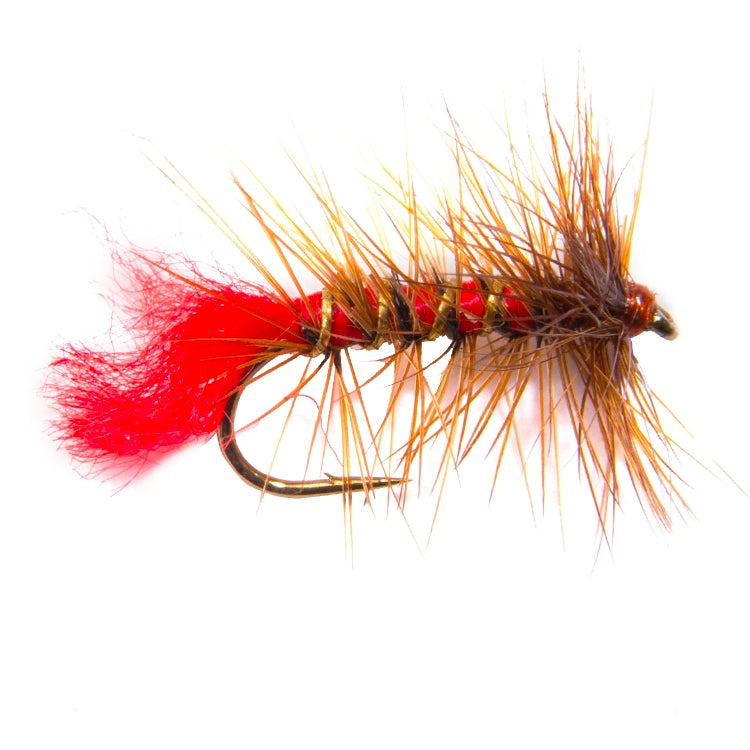Soldier Palmer Hackled Dry Flies