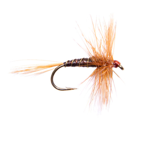 Ginger Quill Hackled Dry Flies