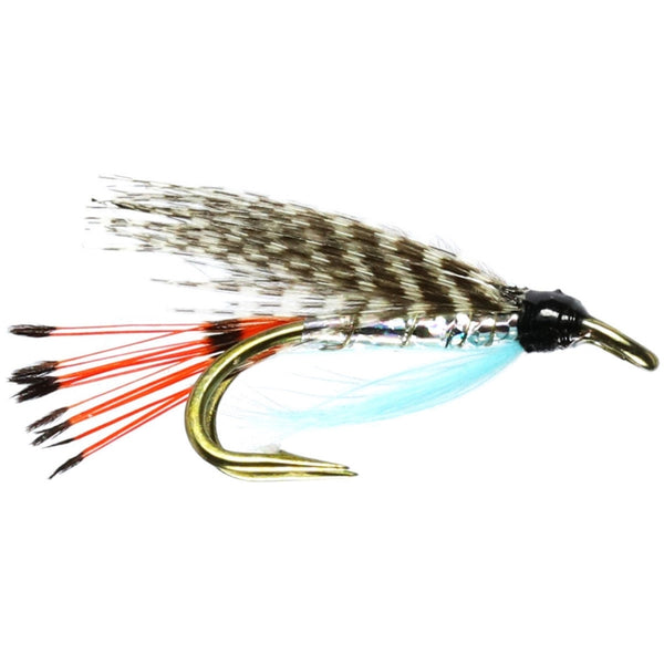 Teal Blue and Silver Wee Double Flies