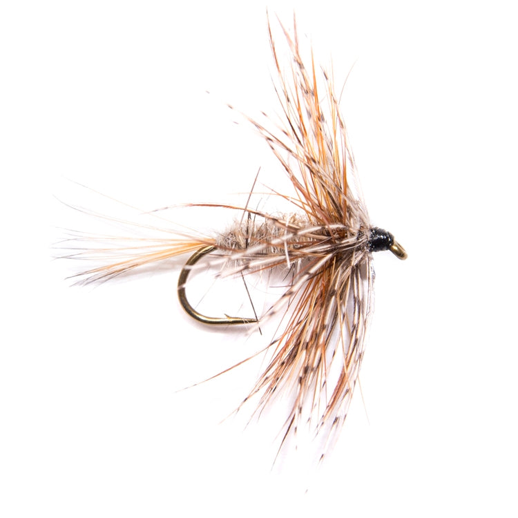 March Brown Hackled Dry Flies