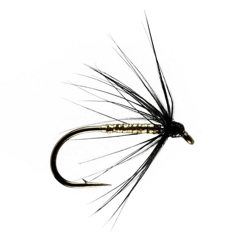 Gold and Black Spider Wet Flies