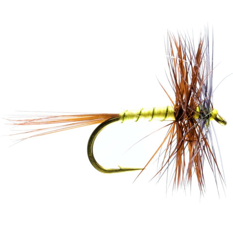 GREENWELLS SPIDER HACKLED DRY FLIES