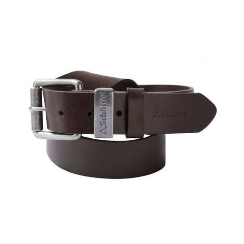 Schoffel Leather Belt - Dark Brown