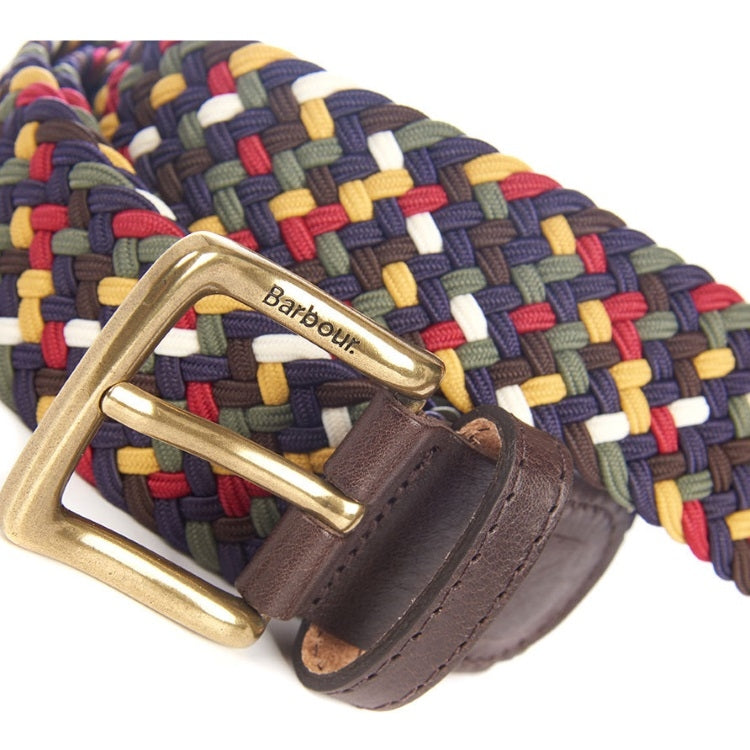 Barbour Tartan Coloured Stretch Belt Gift Box