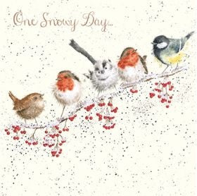 Wrendale Designs One Snowy Day Christmas Card