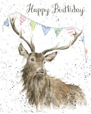 Wrendale Designs Birthday Bunting Card