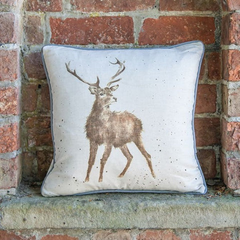 Wrendale Designs Wild at Heart Stag Cushion