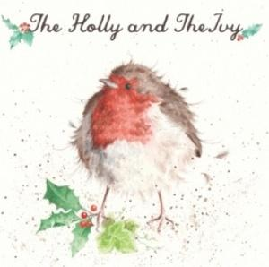 Wrendale Designs The Holly and the Ivy Christmas Card