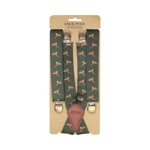 Jack Pyke Elasticated Braces - Pheasant