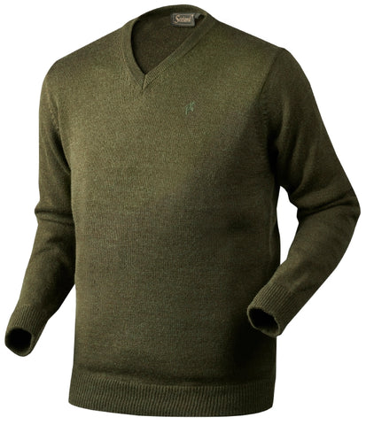 Seeland Essex Sweater - Shaded Olive Melange
