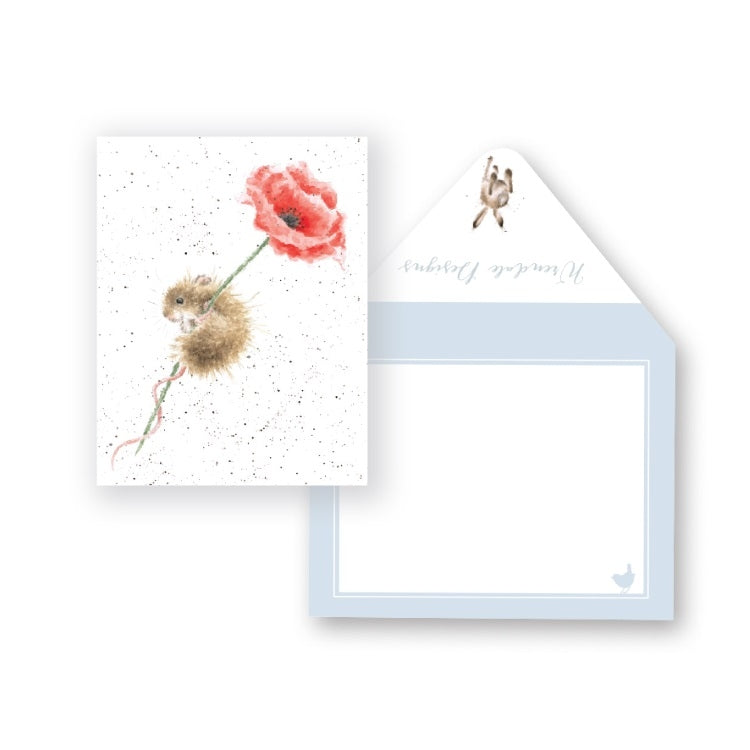 Wrendale Designs Poppy Miniature Card