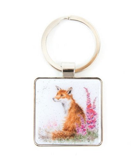 Wrendale Designs Foxgloves Keyring