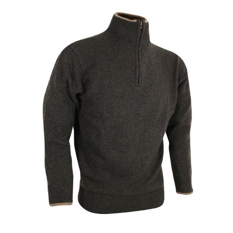 Jack Pyke Ashcombe Zip Neck Sweater - Dark Olive