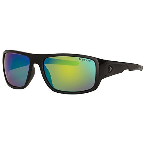 Greys G2 Sunglasses - Gloss Black Frame Green Mirror Lens