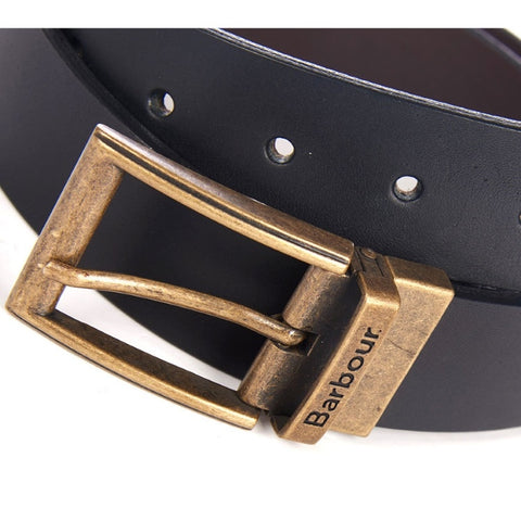 Barbour Reversible Leather Belt Giftbox