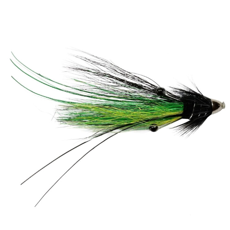 Black and Green Feeler Shrimp Conehead Flies