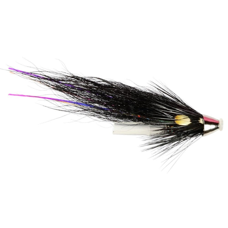 Silver Stoats Plastic Tube Conehead Flies