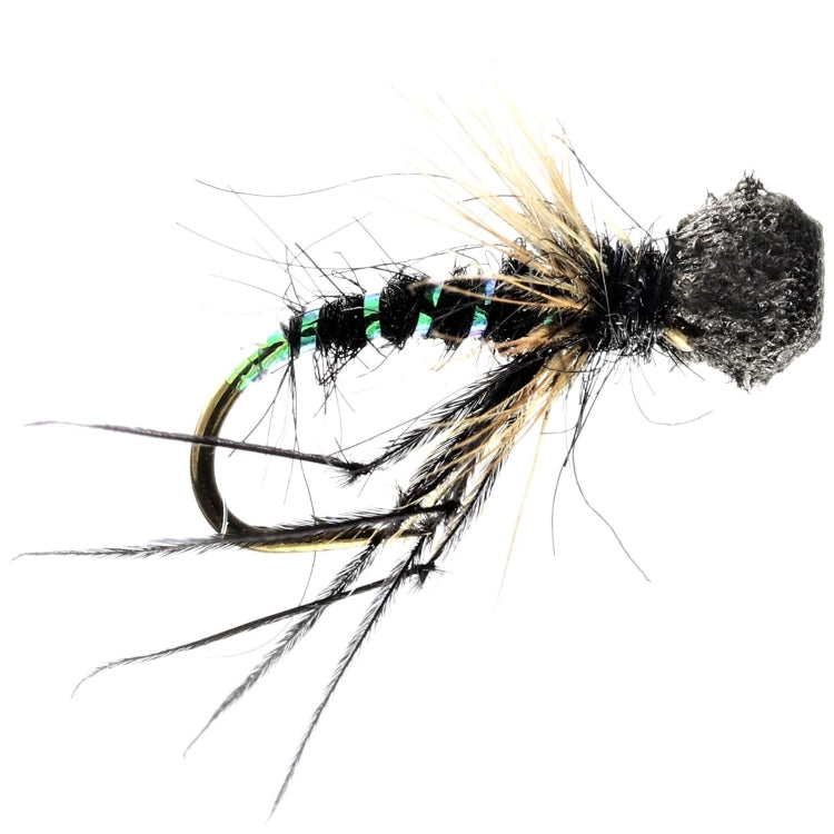 Black Popper Hopper Dry Flies
