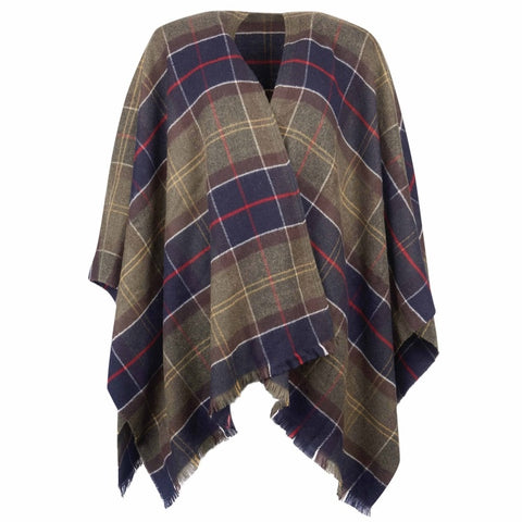 Barbour Ladies Staffin Tartan Serape