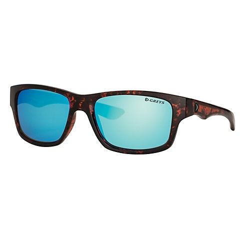 Greys G4 Sunglasses - Gloss Tortoise Frame Blue Mirror Lens
