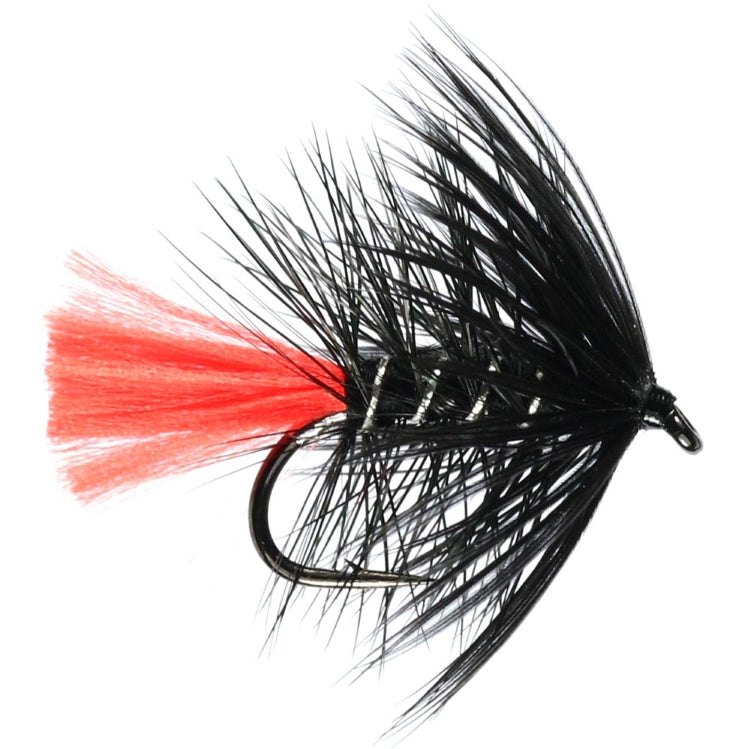 Black Zulu Hackled Wet Flies