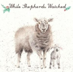 Wrendale Designs While Shepherds Watched Christmas Card