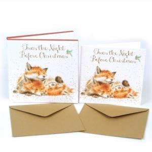 Wrendale Designs The Night Before Christmas Luxury Christmas Card Box Set of 8