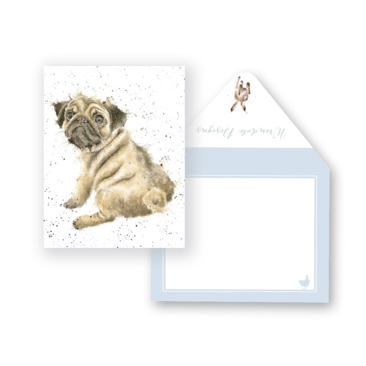 Wrendale Designs Pug Love Miniature Card