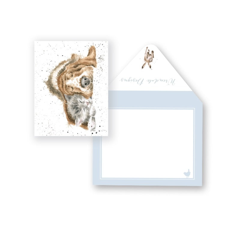 Wrendale Designs Dog and Catnap Miniature Card