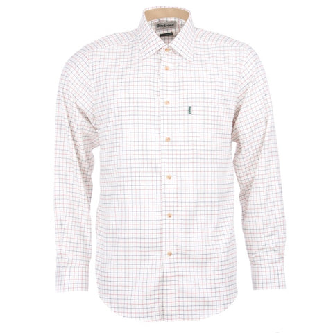 Barbour Field Tattersall Shirt - Rich Red