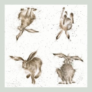 Wrendale Designs Hare-Brained Lunch Napkins