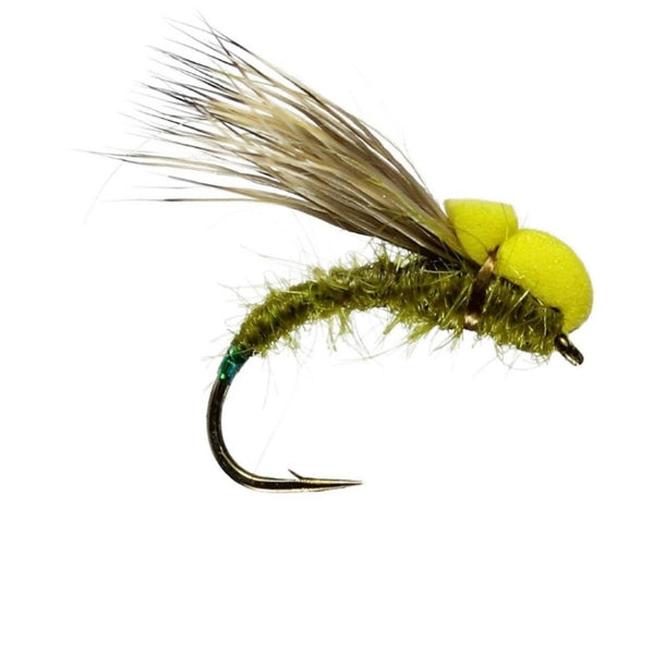 Ballon Caddis Olive Dry Flies