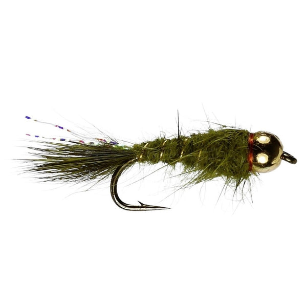 GB Hares Ear Olive Flies