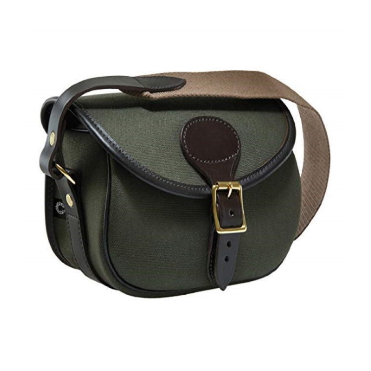 Croots Rosedale Cartridge Bag - Loden Green with Dark Leather trim