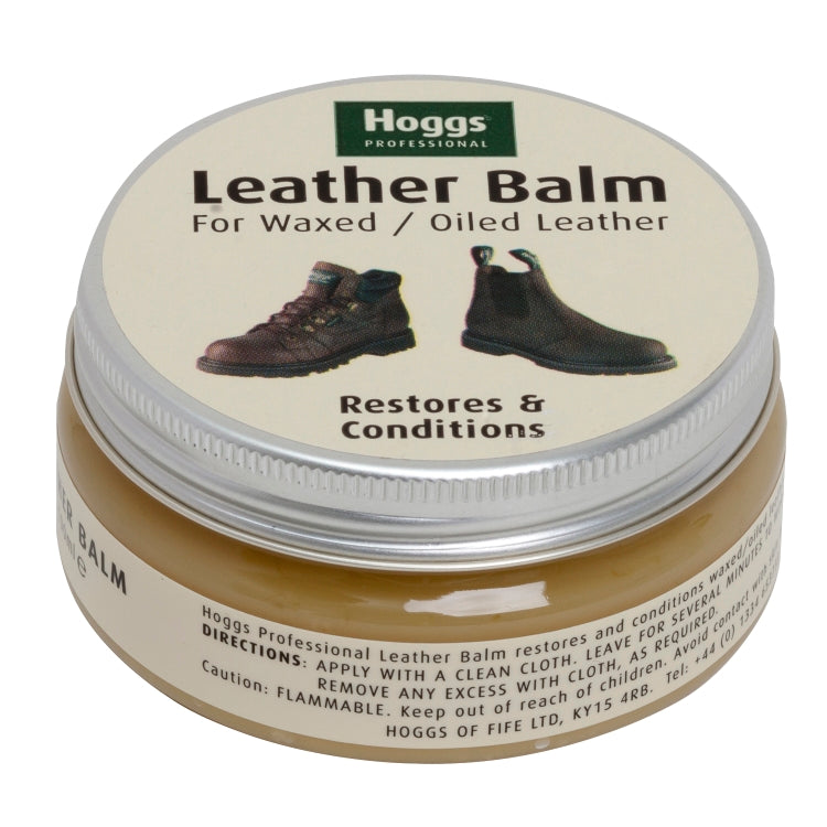 Hoggs of Fife Waxed Leather Balm - Neutral 100ml Jar